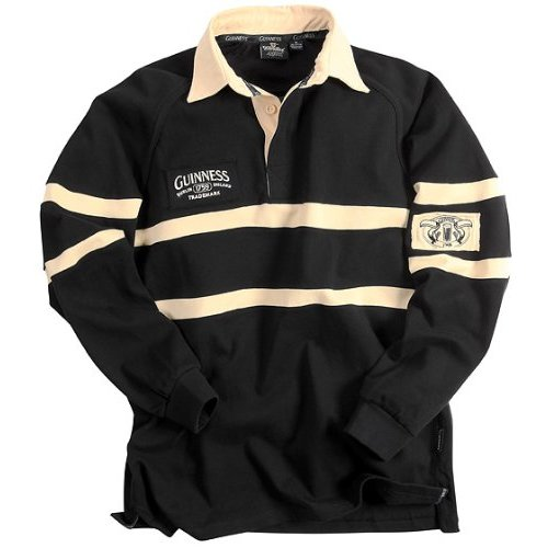 Guinness Black&Cream Trademark Rugby Jersey