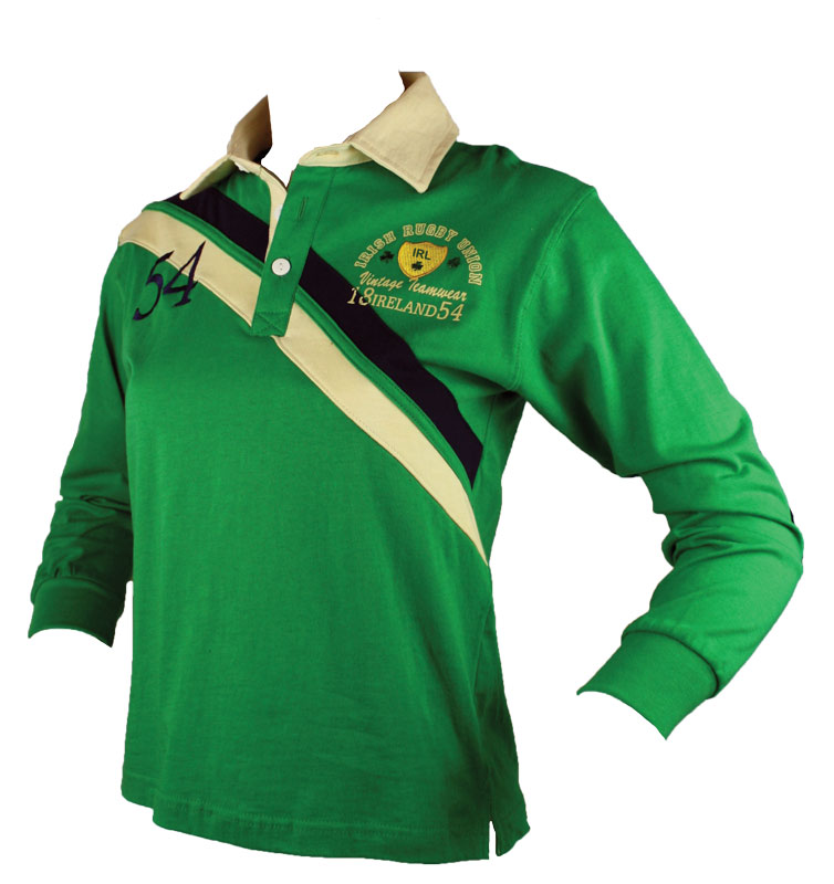 Kid's 1874 Ireland Cotton Longsleeve Rugby Jersey