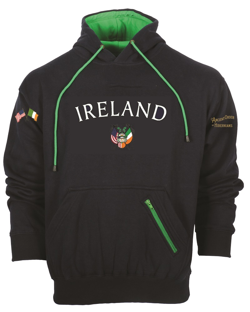 Ancient Order of Hibernians  Ireland Hooded Sweatshirt