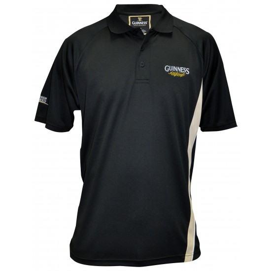 "Black GUINNESS ""Signature"" Golf Shirt"