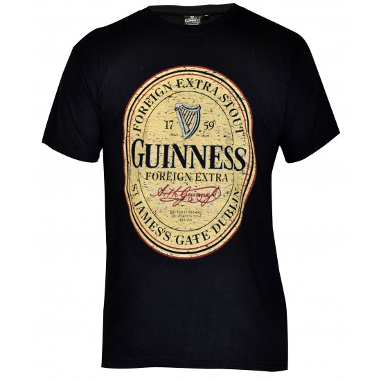 Guinness Label Black T Shirt