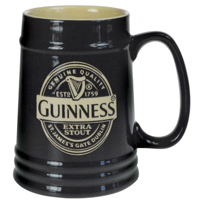 Guinness Ceramic Tankard Black