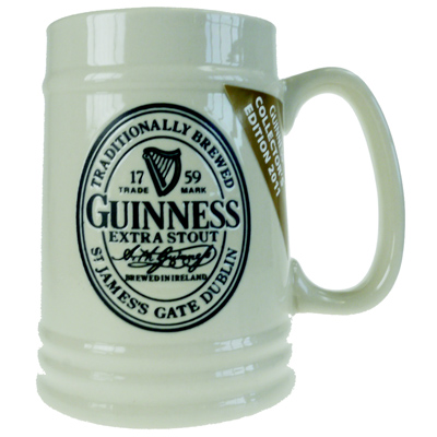 Guinness Ceramic Tankard Cream
