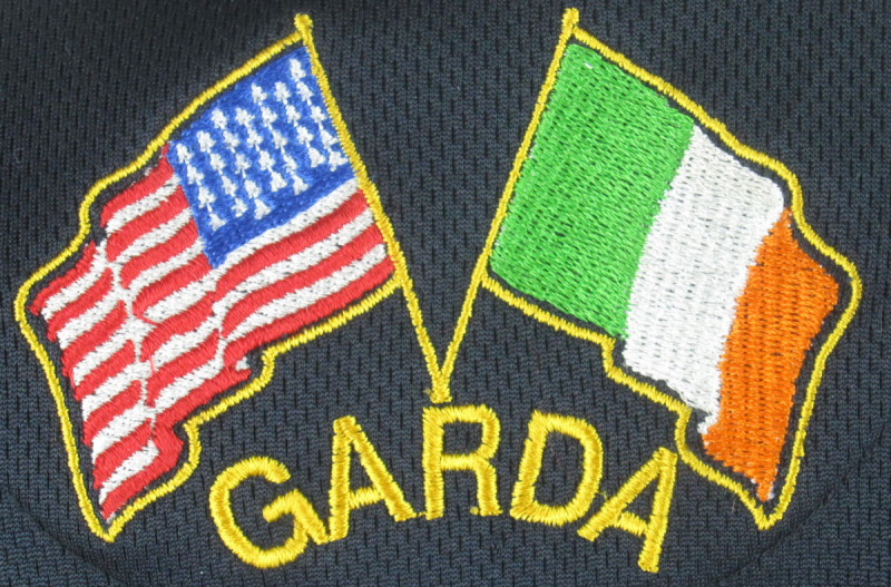 Irish American Police/Garda Rugby Jersey(photo of back)