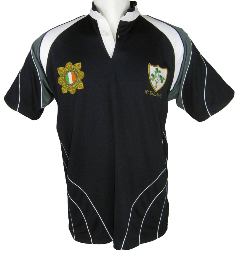 Irish American Police/Garda Rugby Jersey(Available in XXXXL)