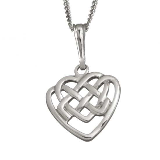 Celtic Knot Heart Pendant With Chain