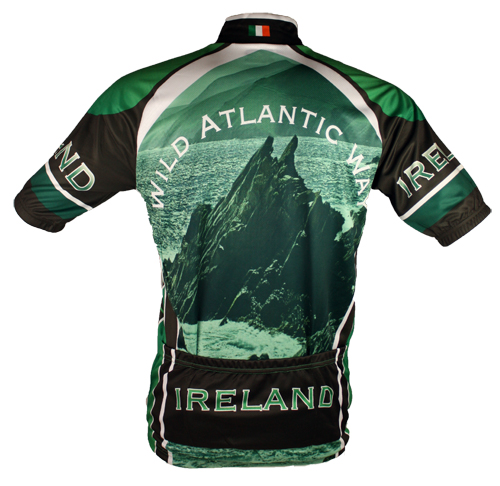 Wild Atlantic Ireland Cycling Jersey -Photo of Back of Jersey
