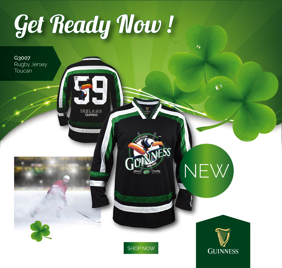 2018 Guinness St.Patrick's day Hockey Jersey