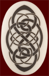 Knotwork Oval Pendant