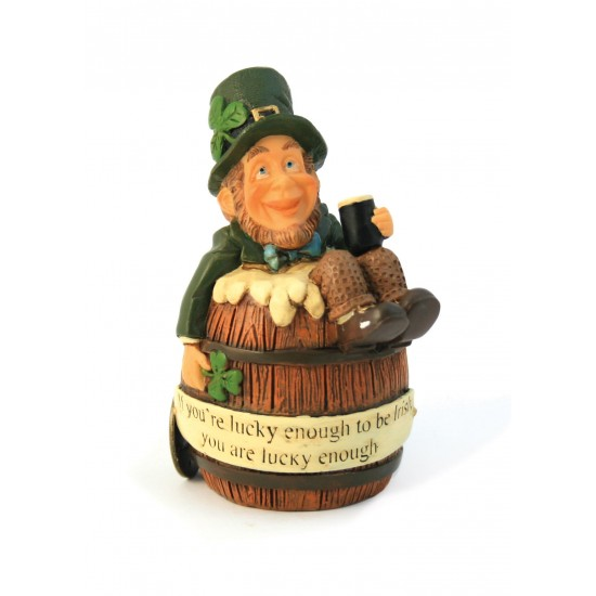 Finnians Figurine It's A Gift Finnian In A Barrel