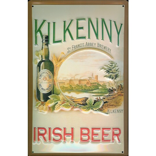 Kilkenny Irish Beer Metal Pub Sign