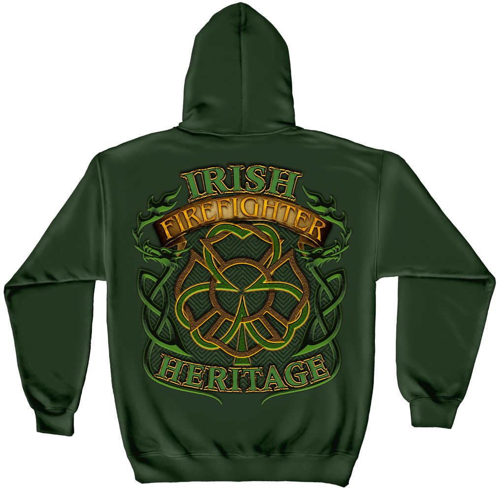 "Irish ""Heritage"" Firefighter Hooded Sweatshirt"