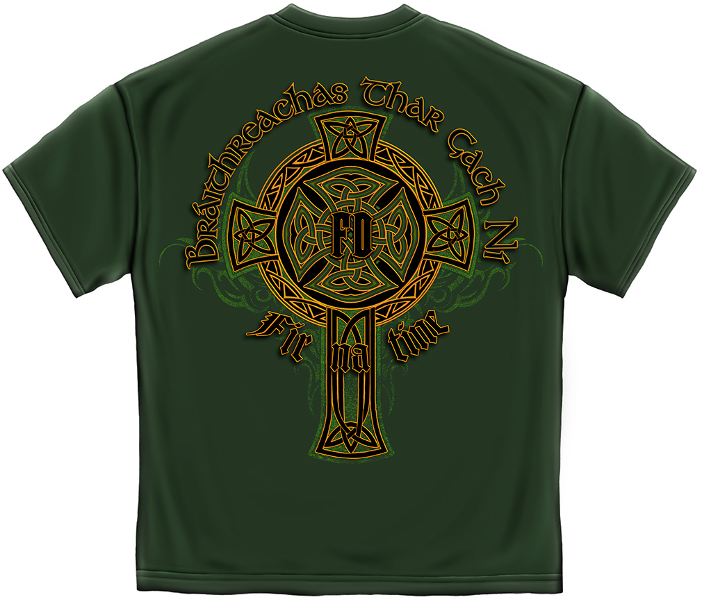 "Irish ""Celtic Cross Heritage"" Firefighter T Shirt"