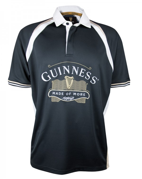 GUINNESS Black Made of More Rugby Jersey
