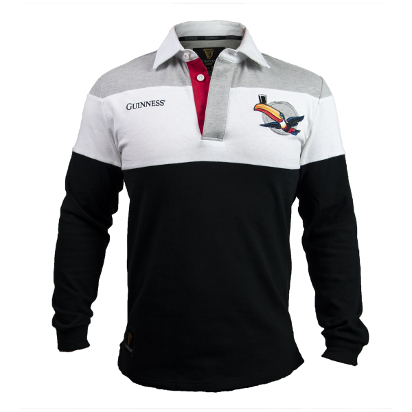 Guinness® Black and White/Grey Toucan Rugby Jersey