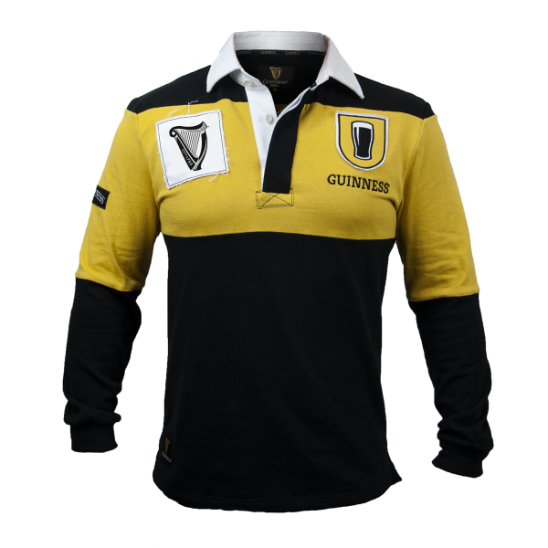 Long Sleeve Guinness Mustard & Black Jersey