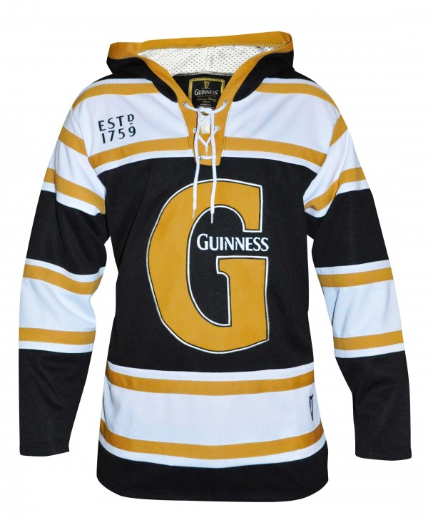 Guinness Black and Gold Hooded Hockey Jersey
