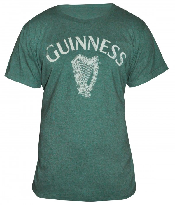 Guinness Green Heathered T Shirt