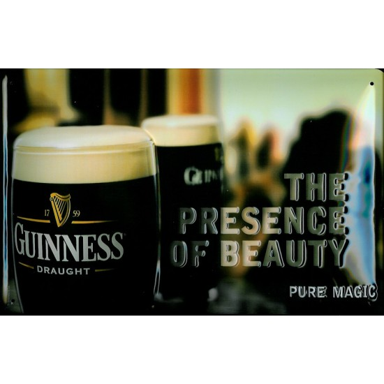 "Guinness ""The Essence of Beauty"" Metal Pub Sign"