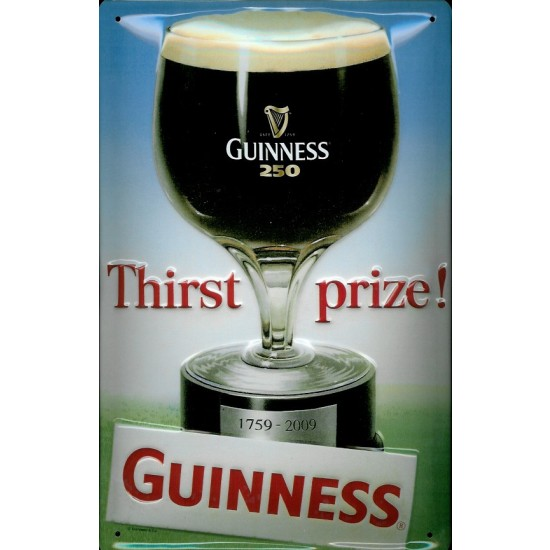 "Guinness ""Thirst Prize"" Metal Pub Sign"