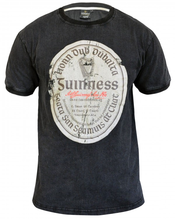 Guinness Distressed Gaelic Label T Shirt