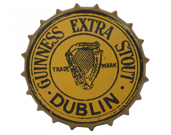 Guinness Gold Vintage Metal Bottle Cap Sign