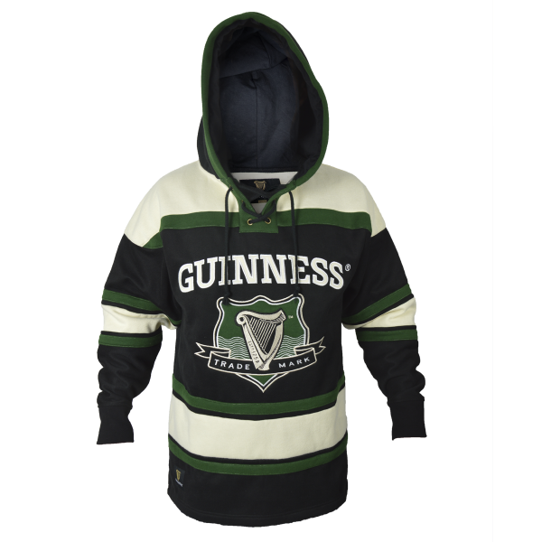 Guinness Green Hockey style Hooded Sweatshirt