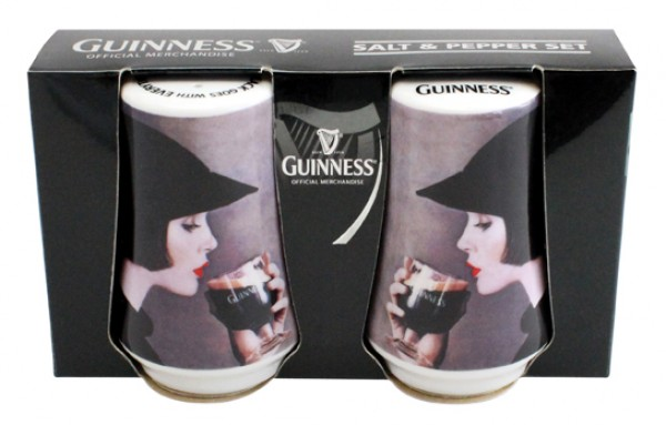 Guinness Girl salt and Pepper Set
