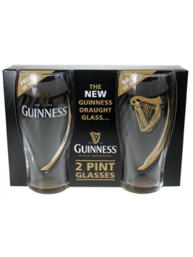 Guinness Embossed Gravity 2pk Glass