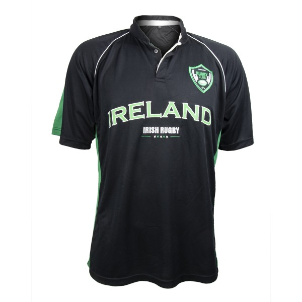 Ireland Black and Green Performance Rugby Jersey