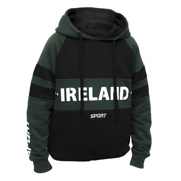 Ireland Green and Black Kids Hoodie