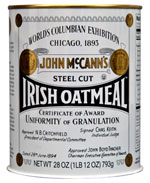 John Mc Cann's Steel Cut Irish Oatmeal
