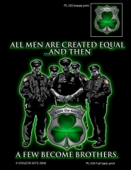"""All Men Are Created Equal"" Irish Police Officer T Shirt"