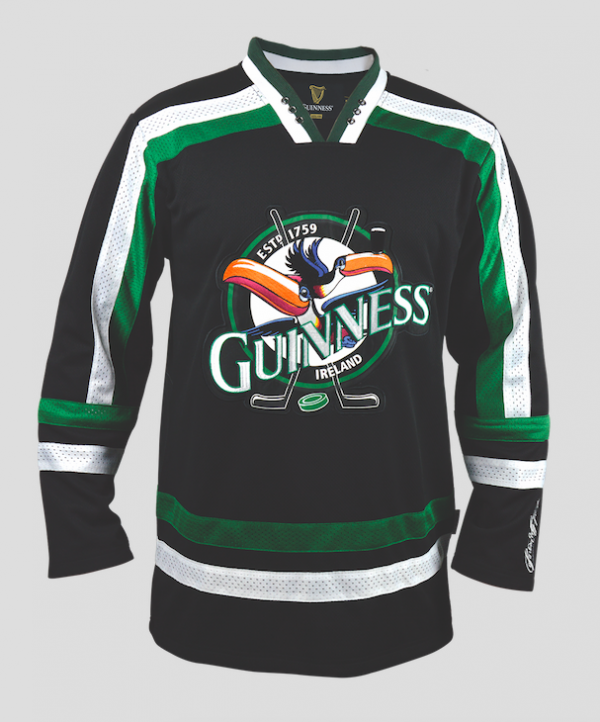 Guinness Toucan Hockey Jersey Black & Green