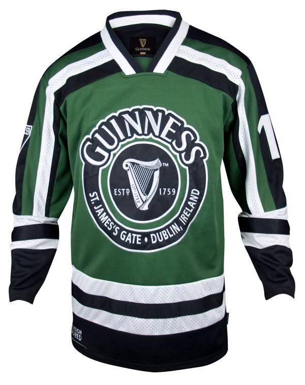 "2017 Guinness ""Ireland and Harp"" Hockey Jersey Avail. in 4X!"